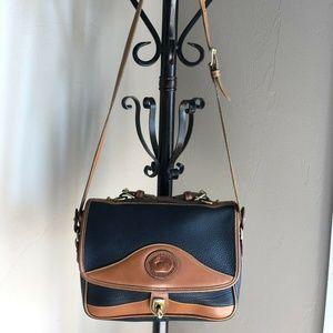 DOONEY & BOURKE Flap Closure Blue Leather Handbag